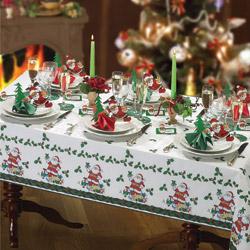 Set completo Tovaglia di Natale per 12 coperti con accessori