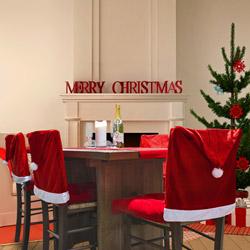 Set di 4 coprisedie natalizi