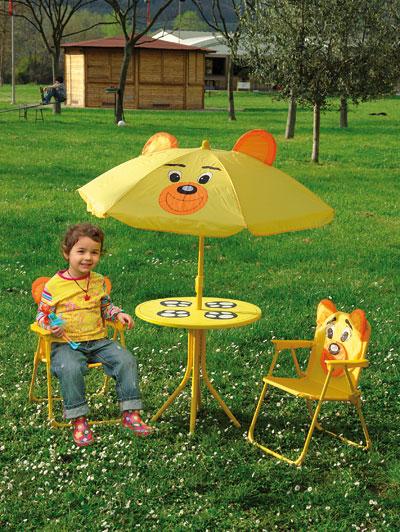 Set da giardino per bambini con tavolo e sedie - Tavolo e sedia per bambini ...