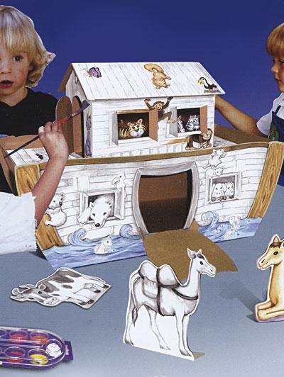Arca di Noè montabile in cartone
