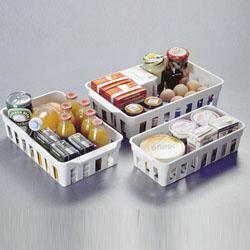 Tre cestini per frigo