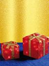 Lampade a forma di pacchi di Natale