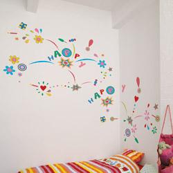 Decorazioni adesive da parete   Happy Party