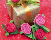 6 Mollette chiudipacco Rose