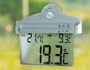 Termometro da finestra ad energia solare