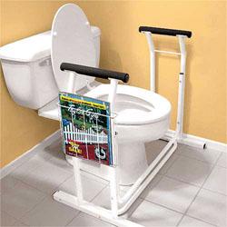 Supporto per WC con portariviste