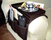 Organizzatore per divano, con vassoio