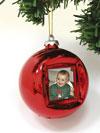 La palla di Natale portafoto digitale